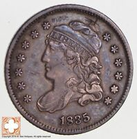 1835 CAPPED BUST HALF DIME LM-8.1 R2 SD-LG 5 VEDS ONLY 1 REV DC-0-RIM 2747