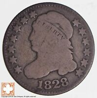 1828 CAPPED BUST DIME JR-2 LARGE DATE 2773