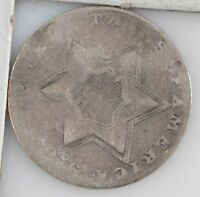 1856 SILVER THREE-CENT PIECE Z07