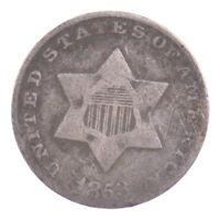 1853 SILVER THREE-CENT PIECE J70