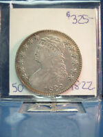 1822 CAPPED BUST 50C X F 45