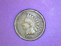 INDIAN HEAD CENT - 1860 - KM 90 - ROUNDED BUST