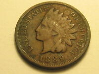 1889 & 1897 INDIAN HEAD CENTS