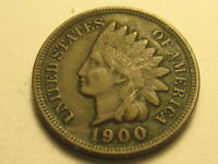 1900 INDIAN HEAD CENT EXTRA FINE