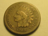 1866 INDIAN HEAD CENT GOOD