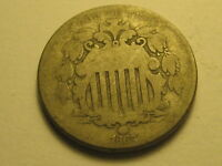 1867 SHIELD NICKEL GOOD
