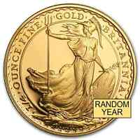 GREAT BRITAIN 1/4 OZ GOLD BRITANNIA BU/PROOF  RANDOM YEAR    SKU 49771