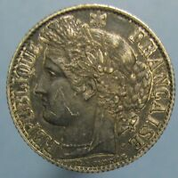 1895 A SILVER FRANC   DEEPLY TONED UNCIRCULATED COIN