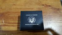 1998 1/10 OZ PROOF PLATINUM AMERICAN EAGLE  BOX & COA ONLY