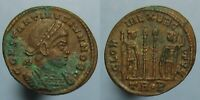 HIGH GRADE CONSTANTINE II THE GREAT GLORIA EXERCITVS AE 3 FROM TRIER