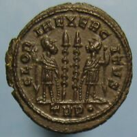 SUPERB CONSTANTINE THE GREAT GLORIA EXERCITVS AE 3 FROM TRIER