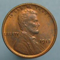 1918 LINCOLN CENT   CHOICE RED & BROWN UNCIRCULATED