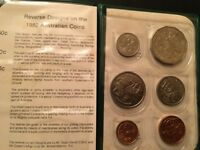 1982 BRISBANE XII COMMONWEALTH GAMES  6  COIN SET ROYAL AUST
