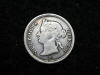 FH 2947: STRAITS SETTLEMENTS 5 CENTS SILVER 1882 H