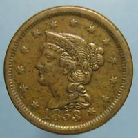 1853 BRAIDED HAIR LARGE CENT   ORIGINAL EF COIN