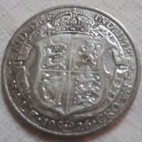 UK 1926 SILVER HALF CROWN COIN KING GEORGE V BEAUTY OLD LARG