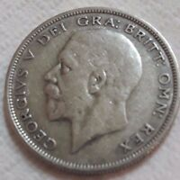 UK 1929 SILVER HALF CROWN COIN KING GEORGE V BEAUTY OLD LARG