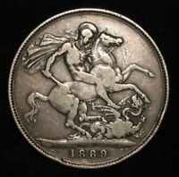 1889 CROWN FROM VICTORIAN ENGLAND.  NO RESERVE