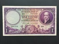 SCOTLAND 1 POUND PS332 COMMERCIAL BANK DATED 3RD JANUARY 195