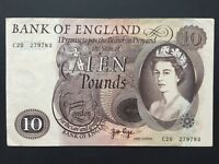 BANK OF ENGLAND UK 10 POUNDS B326 ISSUED 1971 PAGE VF