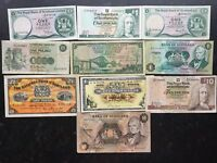 SCOTLAND 1 & 10 POUNDS 10 X BANKNOTES NATIONAL COMMERCIAL RO