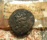 ESTATE COINS: ANTONINUS PIUS LAODICEA AD MARE  JUST UNWRAPPED FROM CELLOPHANE