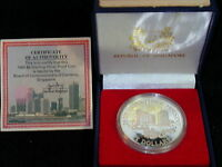 S 51: SINGAPORE SILVER PROOF 5 $ 1985 20 YEARS PUBLIC HOUSIN