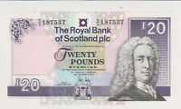 SCOTLAND 2010 20 POUNDS FANCY 1975 BRTHDAY NOTE PERFECT GEM