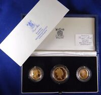 3  PIECE GOLD COIN PROOF SET UNITED KINGDOM 27.95 GRAMS  356