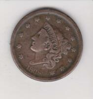 1838 LARGE PENNY 179 YEARS OLD  NICE COLOR/DETAIL