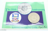 FALKLAND ISLANDS 1983 150TH ANNIVERSARY 1833 1983 50 PENCE COIN UNCIRCULATED