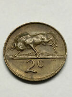 1972 SOUTH AFRICA TWO CENTS AU  8075