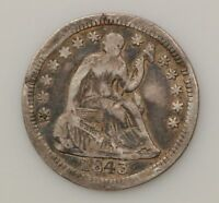 1843 P SEATED LIBERTY SILVER HALF DIME  G59