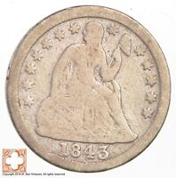 1843 SEATED LIBERTY SILVER DIME  2836