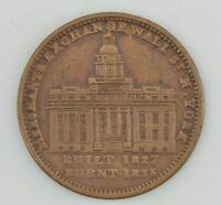 1800'S TOKEN MERCHANTS EXCHANGE OF WALL ST NY/NOT ONE CENT FOR TRIBUTE  Z74