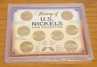 HISTORY OF U.S. NICKELS COIN COLLECTION 1883 TO 2006 COMMEMORATIVE SET