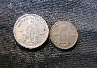 LOT OF 2 SWEDEN COINS   1883 10 ORE & 1897 25 ORE