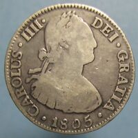 1805 SILVER TWO REALES FROM THE MEXICO CITY MINT