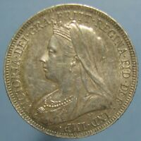 1899 VICTORIA SHILLING   NICELY TONED UNCIRCULATED