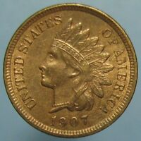 1907 INDIAN HEAD CENT   SHARP BROWN WITH SOME RED UNCIRCULATED