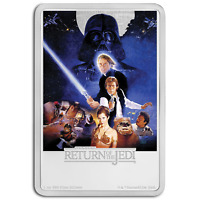 2017 NIUE 1 OZ SILVER $2 STAR WARS RETURN OF THE JEDI POSTER