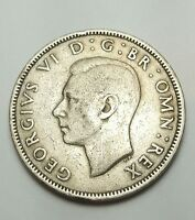 GREAT BRITAIN FLORIN TWO SHILLINGS 1948 SHARP EMPIRE COIN