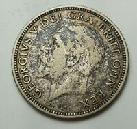 GREAT BRITAIN GEORGE V FLORIN TWO SHILLINGS 1928 SILVER