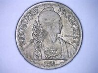 1941 S 10 CENTS FRENCH INDO CHINA COIN KM21.1A