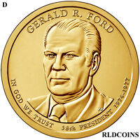 2016 D PRESIDENT GERALD FORD UNCIRCULATED PRESIDENTIAL DOLLAR  38D