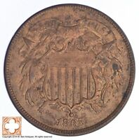1865 TWO CENT PIECE  YB48