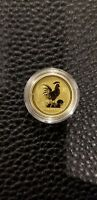 2005 AUSTRALIA 1/10 OZ  GOLD CHINESE LUNAR ROOSTER