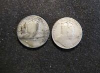 LOT OF 2 CANADA 10 CENTS SILVER CANADIAN COINS   1906 & 1907