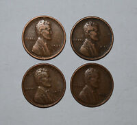 14. LOT OF 4 1923 P LINCOLN CENTS IN AS SHOWN FINE CONDITION