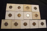 LOT OF 13 LINCOLN WHEAT CENTS - 1927, 1929, 1930, 1931, 1934-1942